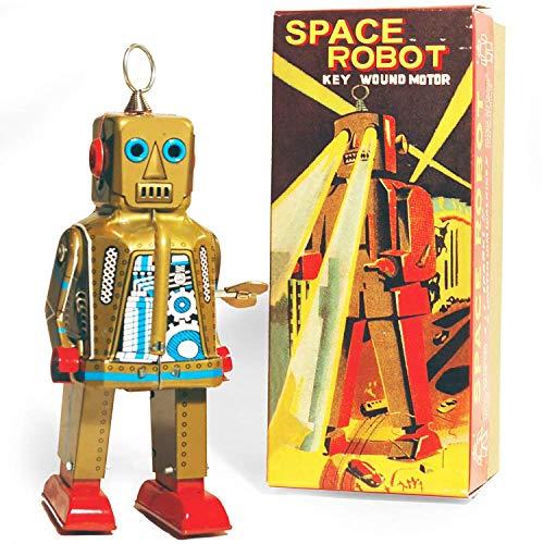 PYXEL STUDIO Ms403 Oro Juguete de la Lata del Espacio Robot.It Sparks Yoshiya Sparky acción Integral Reproducción de la Vendimia