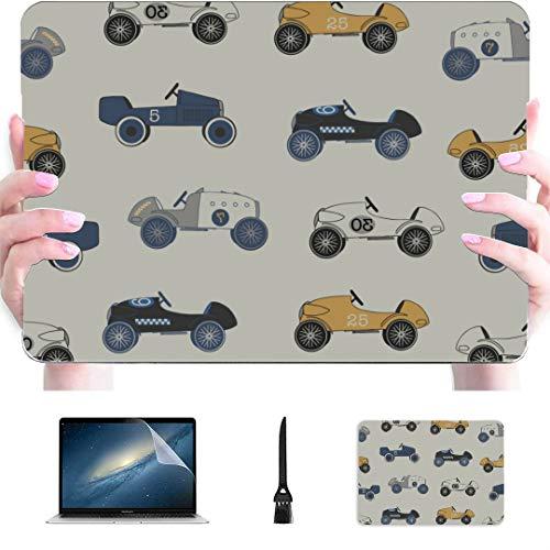 Carcasa rígida de plástico para MacBook Pro Speed Sport Racing Cars repetido, compatible con Mac Air de 13 pulgadas Pro de 13 pulgadas y MacBook Air de 16 pulgadas