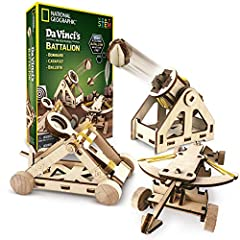 Build three remarkable machines: a ballista (an enormous crossbow), a bombard (an early form of the Cannon) and a mighty catapult. Send projectiles up to 15 feet! Each model is fully functional; the kit comes with 15 projectiles plus 18 paper targets...