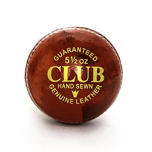 PRO IMPACT Club Play Leather Cricket Ball (1 Ball)