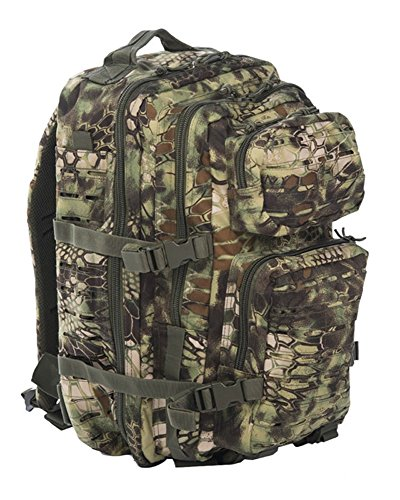 Mil-Tec Normani US Assault Pack Laser Cut - Mochila, Color Mandra Wood, tamaño Large