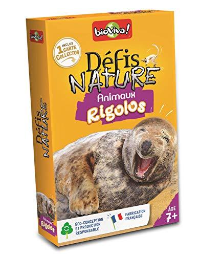 BIOVIVA - Défis Nature - Animaux rigolos - Jeu de société ludique dès 7 ans - 200554