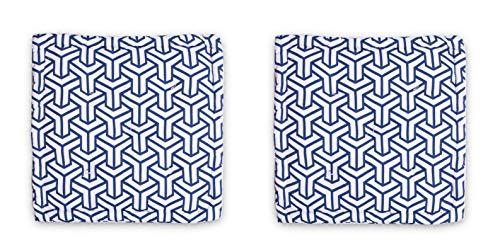 Homevibes Cojín para Silla, Juego de 2 Cojines de 40 x 40 x 7 cm de 100% Algodon para Interior y Exterior, Cojin Cuadrado para Suelo (Tube)