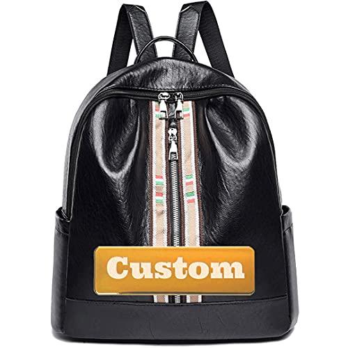 Claiyi Nome personalizzato in pelle Big Donne Borsa per borsellini convertibili Borsa da viaggio con spalla per pelle (Color : Black, Size : One size)