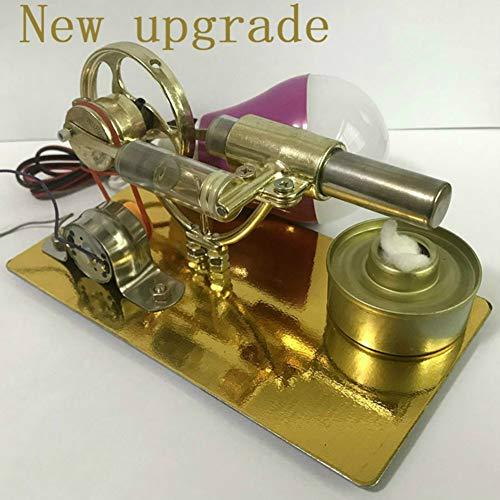 XFY Stirlingmotor, Modell Stirlingmotor mit Generator, mit 5V 5W Glühlampe, Demonstrationswerkzeug für Physikexperimente