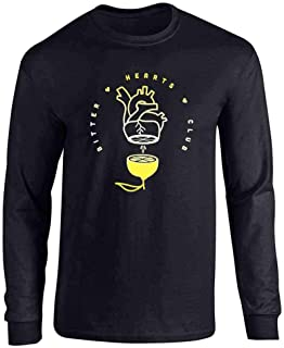 Pop Threads Bitter Hearts Club Broken Heart Cute Lemon Funny Full Long Sleeve Tee T-Shirt