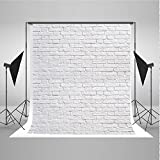 Kate 5x7ft White Brick Wall Photo Background Product Photography Backdrops Cloth Seamless Can be Washed