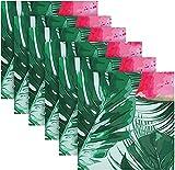 BONRI Servilletas de tela, sandías y hojas tropicales de palmas impresas suaves y cómodas, juego de servilletas de mesa de 15,7 x 50,8 cm, lavables, para uso diario familiar, bodas, fiestas
