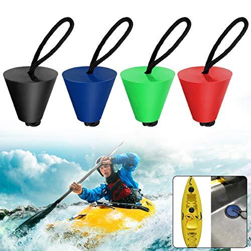 4 Stück Kajak Scucker Plug, Beste Universal Silikon Kayak Scucker Plug Kit, Wasserablauf Kajak Plug Kit Stöpsel Passt für Löcher zwischen 3/4