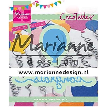 Marianne Design Creatables Matrices de découpe et embossing, Ballon de félicitations, pour projects de loisirs créatifs avec du papier