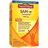 Nature Made SAM-e Complete 400 mg Tablets, 36 Count Value Size, Supports a Healthy Mood & Joint Comfort, Packaging May Vary