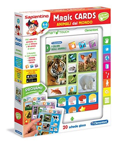 Sapientino Clementoni 13273 Magic Cards Animali dal Mondo, 4-6 Anni