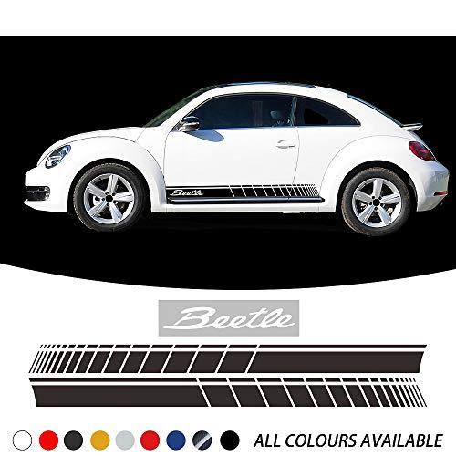 ZYHZJC 2 Stück Autotür Seitenstreifen Aufkleber Karosserie Aufkleber Auto Syling für VW Beetle