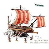 GEEFSU-Modelo de Barco Adorno de Navidad Barco Pirata de Madera Rompecabezas 3D Bloque de Ensamblaje de Rompecabezas para Niños DIY Juguete Modelo de Buque de Guerra Romano Antiguo