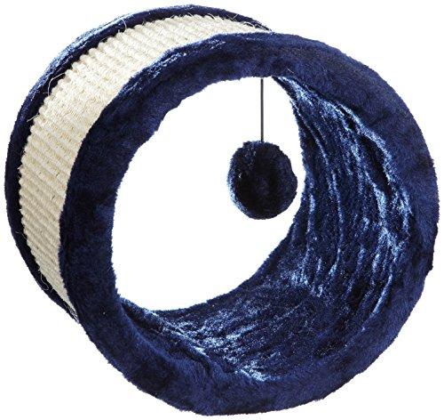 Trixie 4324 Spielrolle, Sisal/Plüsch, ø 23 × 20 cm, blau/natur