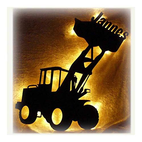 Bagger Radlader Nachtlicht Schlummerlicht