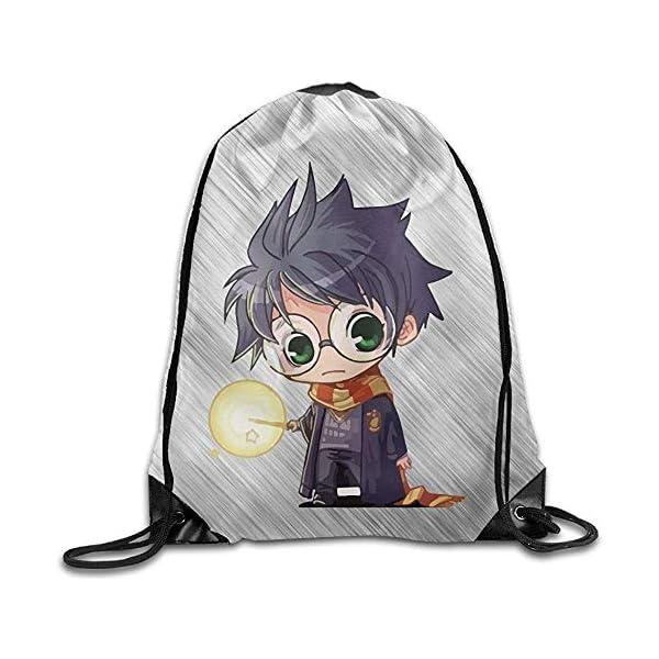 51Mxshr+vhL. SS600  - BOUIA Cute Harry Potter Cartoon Sport Backpack Mochila con cordón de impresión 36X43CM