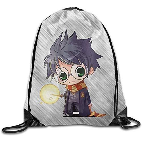 51Mxshr+vhL - BOUIA Cute Harry Potter Cartoon Sport Backpack Mochila con cordón de impresión 36X43CM