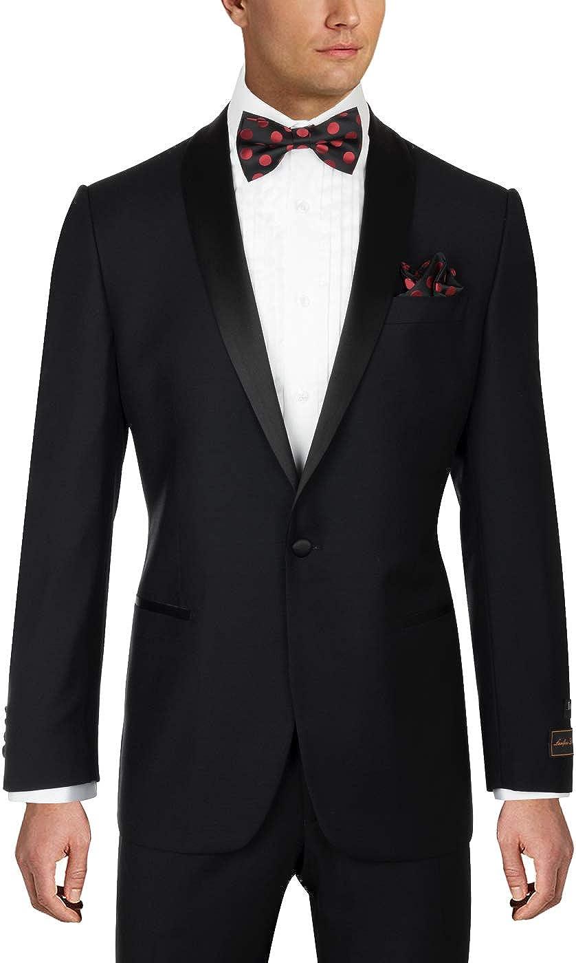 Tiglio Luxe Beckham, Modern Fit, Black, Pure Wool Tuxedo TIG1001