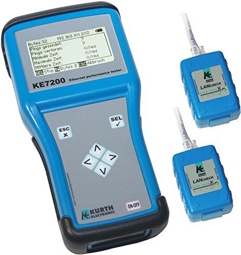 KURTH KE7200 Aktiver Netzwerktester mit 2 Remote-Einheiten KE7010, PC Software und Schutztasche