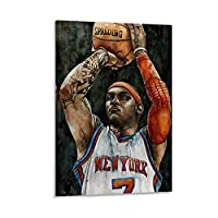 CARMELO ANTHONY アートポスター バスケットボール選手 キャンバスポスター寝室の装飾スポーツ風景オフィスルームの装飾ギフト,キャンバスポスター壁アートの装飾リビングルームの寝室の装飾のための絵画の印刷 24x36inch(60x90cm)