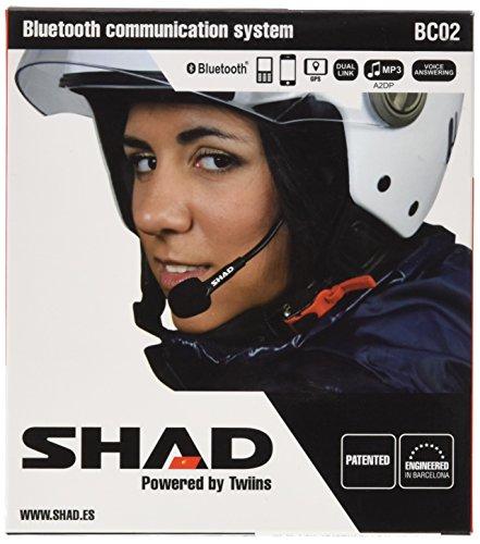 SHAD Intercomunicador Hands Free Kit BC02 Phone GPS Music