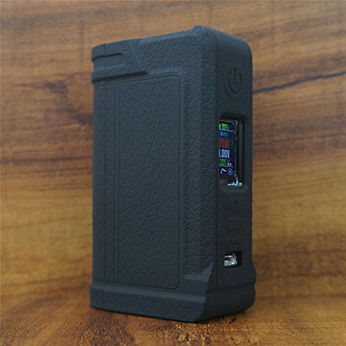 ModShield for Lost Vape PARANORMAL DNA75C & DNA250C Silicone Case ByJojo Cover Shield Wrap Skin (Black)