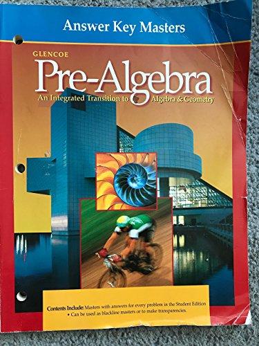 Answer Key Masters (Glencoe Pre-Algebra) (Glencoe Pre-Algebra)