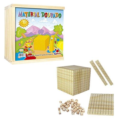 Material Dourado 611 Peças em Madeira Ciabrink