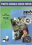 PPD A4 x 100 Hojas de Papel a Doble Cara Para Folletos de Calidad Fotográfica con Acabado Mate - Gramaje de 130 g/m² y Secado Instantáneo - Para Impresora de Inyección de Tinta Inkjet - PPD-40-100