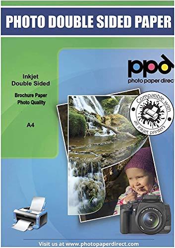 PPD A4 x 50 Blatt Inkjet 120 g/m2 Flyerpapier (Broschürenpapier) Beidseitig Seidenmatt Beschichtet DIN A4 x 50 Blatt PPD064-50