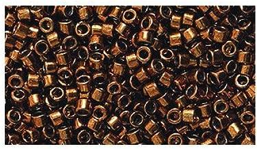Miyuki Delica Seed Bead 11/0 DB461, Metallic Dark Copper Galvanized, 9-Gram/Pack