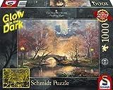 Schmidt Spiele- Thomas Kinkade - Puzzle (1000 Piezas), diseño de Central Park en otoño, Color carbón (59496)