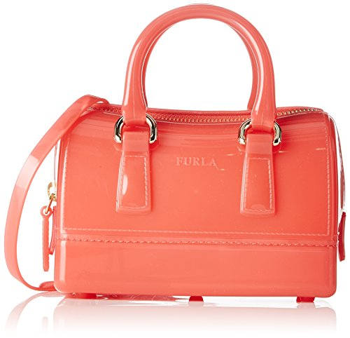 FURLA Candy Sweetie Mini Satchel - Borse a secchiello Donna, Pink (Rosa C), 9x16.5x11 cm (B x H T)