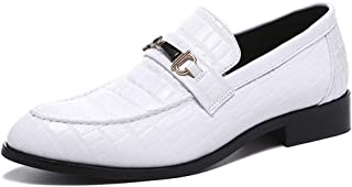 NXY White Shoes for Men丨 Men's Driving Shoes & Noble Dress Shoes for Men丨Classic Business Black Loafers for Men 6-13