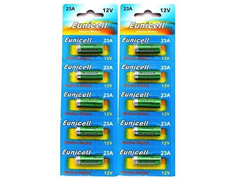 Eunicell A23·- Pila alcalina, 23 A, 12 V, lote de 10