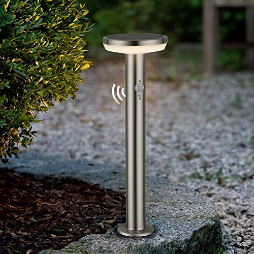 BRIMMEL Outdoor LED Solar Pollerleuchte 600 LUM 3000K Warmweiß Wege-Leuchte Solarleuchte Standleuchte Außenbeleuchtung für Außen Wege Terrasse Rasen Strahler Leuchten Gartenbeleuchtung 50CM, SG601149