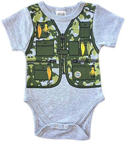 CHUBS Baby Camping Clothes, Baby Camo Fishing Vest, New Dad Gift, 6-9M