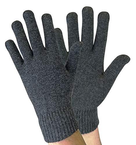 sock snob Herren Winter Warm Dünn Leicht Gestrickt Magic Thermo Wolle Handschuhe für Kalt Wetter (One Size, Wg Grey)