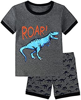 Image of Grey Roar Dino Shorty Pajamas for Boys and Toddlers - See More Prints