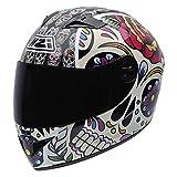 NZI Must II Graphics Casco De Moto(Mexican Skulls,XX-Pequeña)