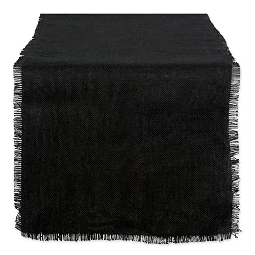 DII Jute Collection Kitchen Tabletop, 15x74, Solid Black
