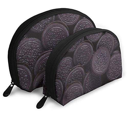 Personalisierte Keks-Muster Damen Muschelform Geldbörse Reise Aufbewahrungstasche Organizer Tasche Geschenk 2St