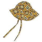 Sigikid Baby-Mädchen Sonnen-Hut aus Bio-Baumwolle für Kinder Cappello da Sole, Gelb/Muster, 46 cm Bimba