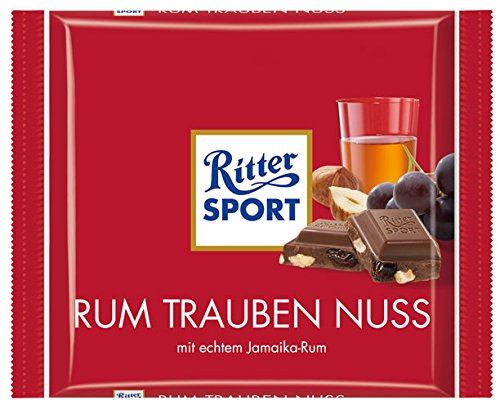 Ritter Sport Rum-Trauben-Nuss - 100gr - 4x