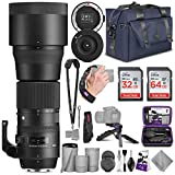 Sigma 150-600mm 5-6.3 Contemporary DG OS HSM Lens for Nikon DSLR Cameras + Sigma USB Dock with Altura Photo Complete Accessory and Travel Bundle (Renewed)