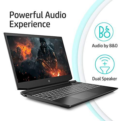 HP Pavilion Gaming 15.6-inch (39.62 cms) FHD Gaming Laptop (Ryzen 5-4600H/8GB/512GB SSD/Windows 10/144Hz/NVIDIA GTX 1650ti 4GB/Shadow Black), 15-ec1051AX