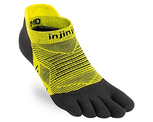 Injinji Run Lightweight No Show Toe Socks Limeade Size : 44-47