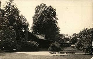 Twin Oaks Lodge Sterling, Massachusetts Original Vintage Postcard