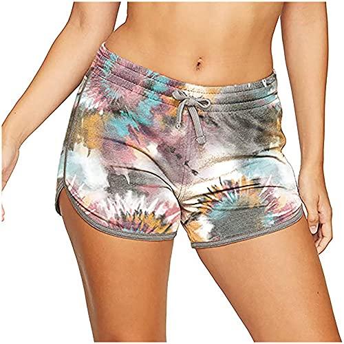 ArcherWlh Leggings,Stampa Pantaloncini da Yoga Pantaloni Sportivi Pan Tight Beach Pantaloni Caldi-Cravatta a Colori Grigio Scuro_XL.